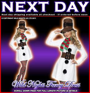 CHRISTMAS-FANCY-DRESS-COSTUME-LADIES-MISS-SNOWMAN-MED-12-14