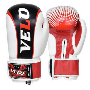 VELO-Boxing-Gloves-Fight-Training-Punch-Bag-Muay-thai-MMA-Kickboxing-Sparring