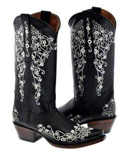 Womens Cowboy Boots Black Fancy