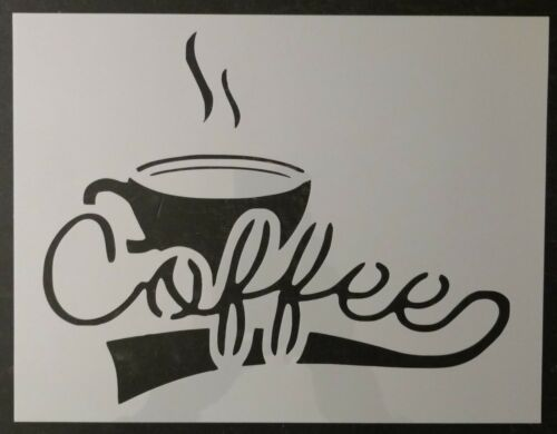 """Coffee with Cup Kitchen 8.5/"""" x 11/"""" Sheet Custom Stencil FAST FREE SHIPPING"""