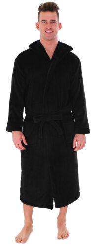 Hooded Plush Bathrobe Coral Fleece Spa Robe Shawl for Women and Men