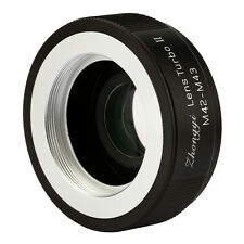 Zhongyi Turbo II Focal Reducer Booster Lens Adapter for M42 to M43 M4/3 Olympus