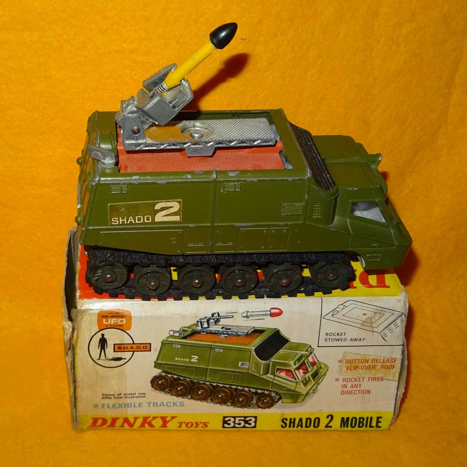 VINTAGE 70s DINKY TOYS 353 UFO SHADO 2 MOBILE SPACE VEHICLE COMPLETE BOXED RARE
