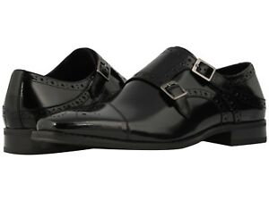 15a9e2914 Stacy Adams Tayton Men s Black Double Monk Strap Cap Toe Dress Shoes ...