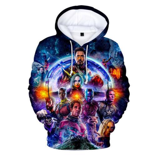 Full color print Hoodie The Avengers 4 Endgame Quantum Realm Pullover Sweatshirt