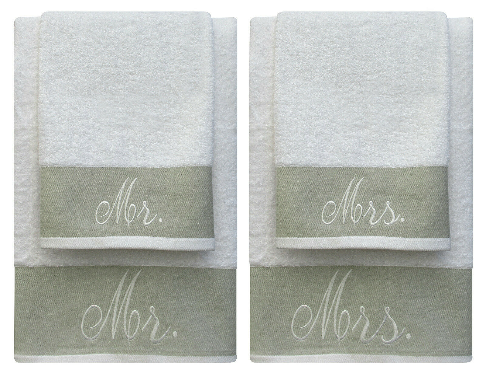 Pack of 4 Decorative 100% Cotton Bale Towels Sets Bath and Hand Towels 600 Gsm