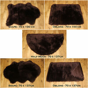 New Soft Fluffy Plain Washable Choc Brown Colour Fake Faux