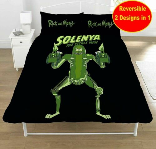 Rick and Morty Pickle Rick Rat Costume Double couette couverture Set//Literie