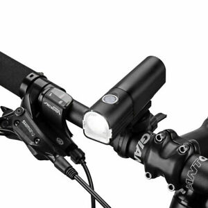ROCKBROS Bike Light Waterproof Head Front Light USB Rechargeable 400Lumens Black