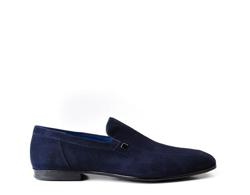 shoes MARIO BRUNI men MOCASSINI  blue  54925 BL