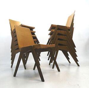 stacking chair 50 er 60er jahre industriale st hle loft design ebay. Black Bedroom Furniture Sets. Home Design Ideas