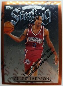 1997-97-TOPPS-FINEST-Allen-Iverson-Rookie-RC-STERLING-240-With-Peel-76ers