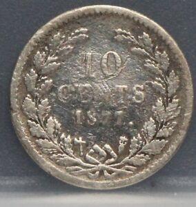 Nederland-Netherlands-zilveren-dubbeltje-1877-10-cent-1877-Willem-3