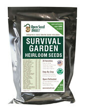 EMERGENCY SURVIVAL VEGETABLE GARDEN SEED HEIRLOOM PREPPER KIT RATION MRE MEALS