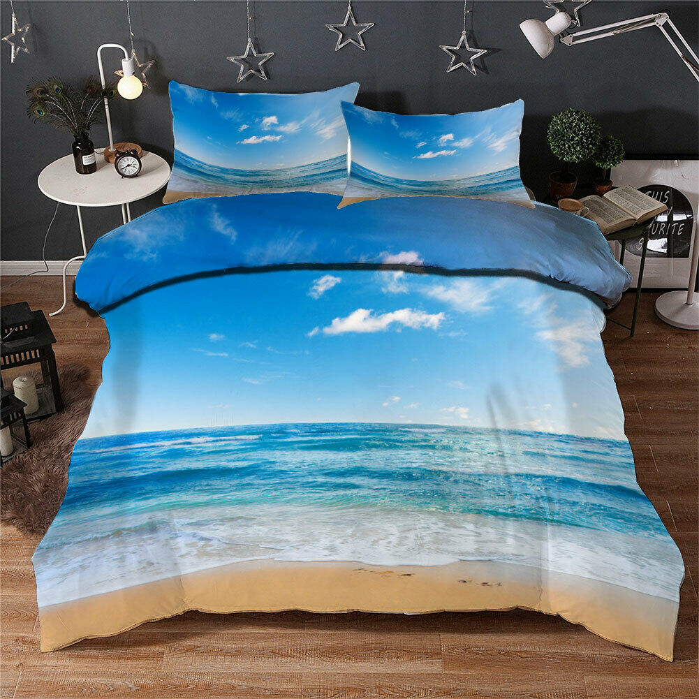 Blau Sea Miracle 3D Quilt Duvet Will Startseite Set Single Double Königin König Drucken