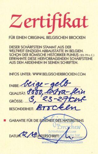 Schleifstein Belgischer Brocken gelb und Profilstein für Schnitz Huf Brotmesser