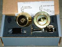 Assa E6000dc T-ex Single Cylinder High Security Deadbolt 605 Brass