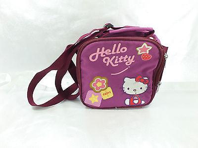 Sacoche Bandouliere Hello Kitty Bordeaux Usée Légèrement Aux Angles