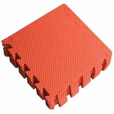 9Pcs Wood Effect EVA Foam Mats Interlocking Tiles Floor Protection 30x30cm