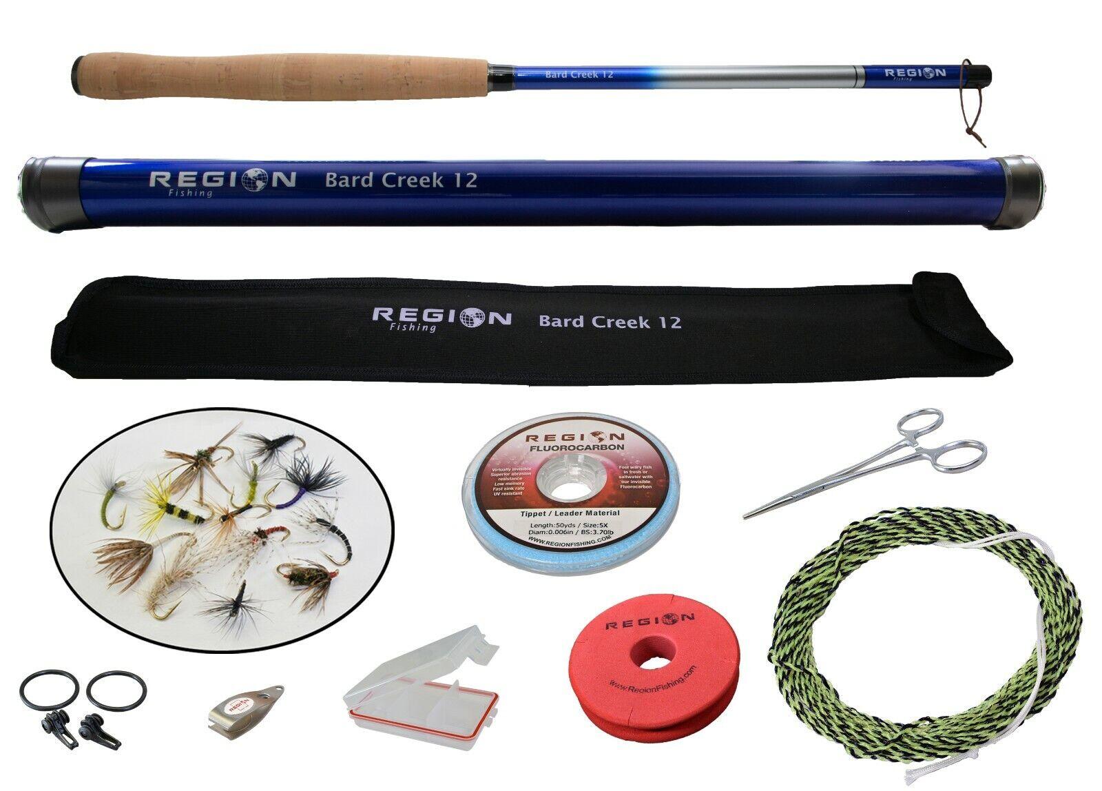 Tenkara Fly Rod - Bard Creek 12' w   Starter Kit - Japanese Carbon Fiber  shop clearance