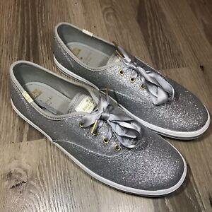 82ea3cfc373fe1 KEDS x KATE SPADE NEW YORK CHAMPION Silver Glitter Sneakers Shoe ...
