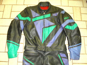UVEX Motorradkombi Lederhose Bikerjacke Motorradanzug oldschool 80s vintage 52