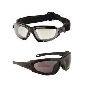 Portwest PW11 Levo 2 in 1 Spectacle Safety Glasses Goggles Clear & Smoke 1,6,12