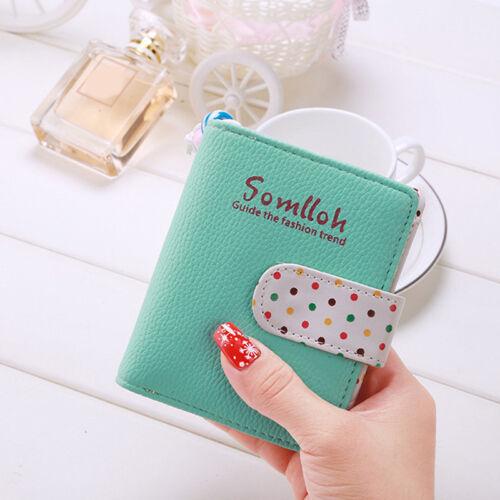 Fashion Card Wallet Women Business Card Storage Purse Zip Around Case Bag 6A