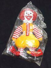 Ronald McDonald Plush Sealed McDonaldland Vintage 1970's Era Clean in Baggie