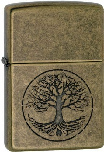 zippo 29149 tree of life antique brass finish full size lighter ebay