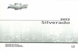 2012 chevrolet silverado owners manual user guide ebay rh ebay com 2012 chevy silverado 2500hd diesel owners manual 2012 chevy silverado 5.3 owners manual