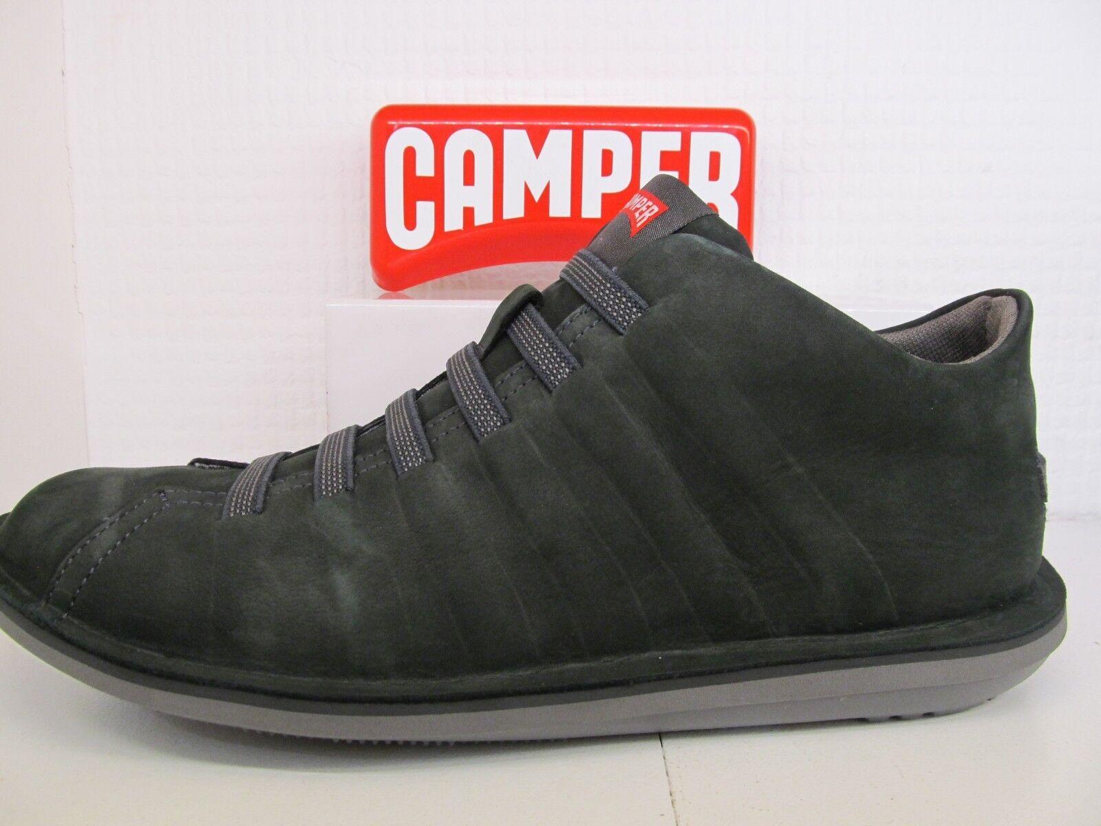 36678-057 Camper Beetle verde nabuk scuro in pelle di nabuk verde INS Scarpa in pizzo elastico 2dc865