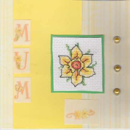 Grandma Family Cross Stitch Cards Brother Handmade Mother Father Sister