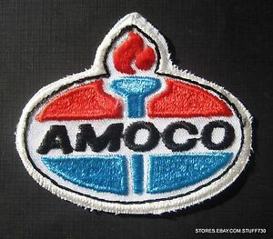 AMOCO-SEW-ON-PATCH-GAS-OIL-UNIFORM-TORCH-LOGO-BADGE-COLLECTIBLE-3-034-x-2-1-2-034