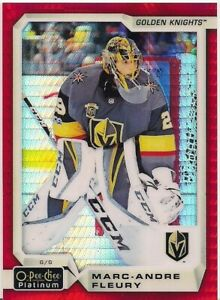 Marc-Andre-Fleury-2018-19-O-Pee-Chee-OPC-Platinum-Red-Prism-120-199-Vegas-Wow
