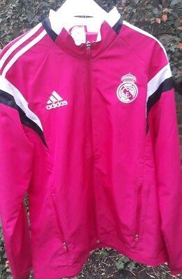 Creativo Real Madrid Adidas Giacca Rosa Taglia M-mostra Il Titolo Originale