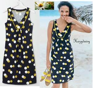061244bac09 Boden Tarifa summer slub jersey beach dress navy spot sizes 6 8 10 ...