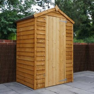 Wooden Garden Storage Sheds Ideal For Small Gardens Overlap Timber 4