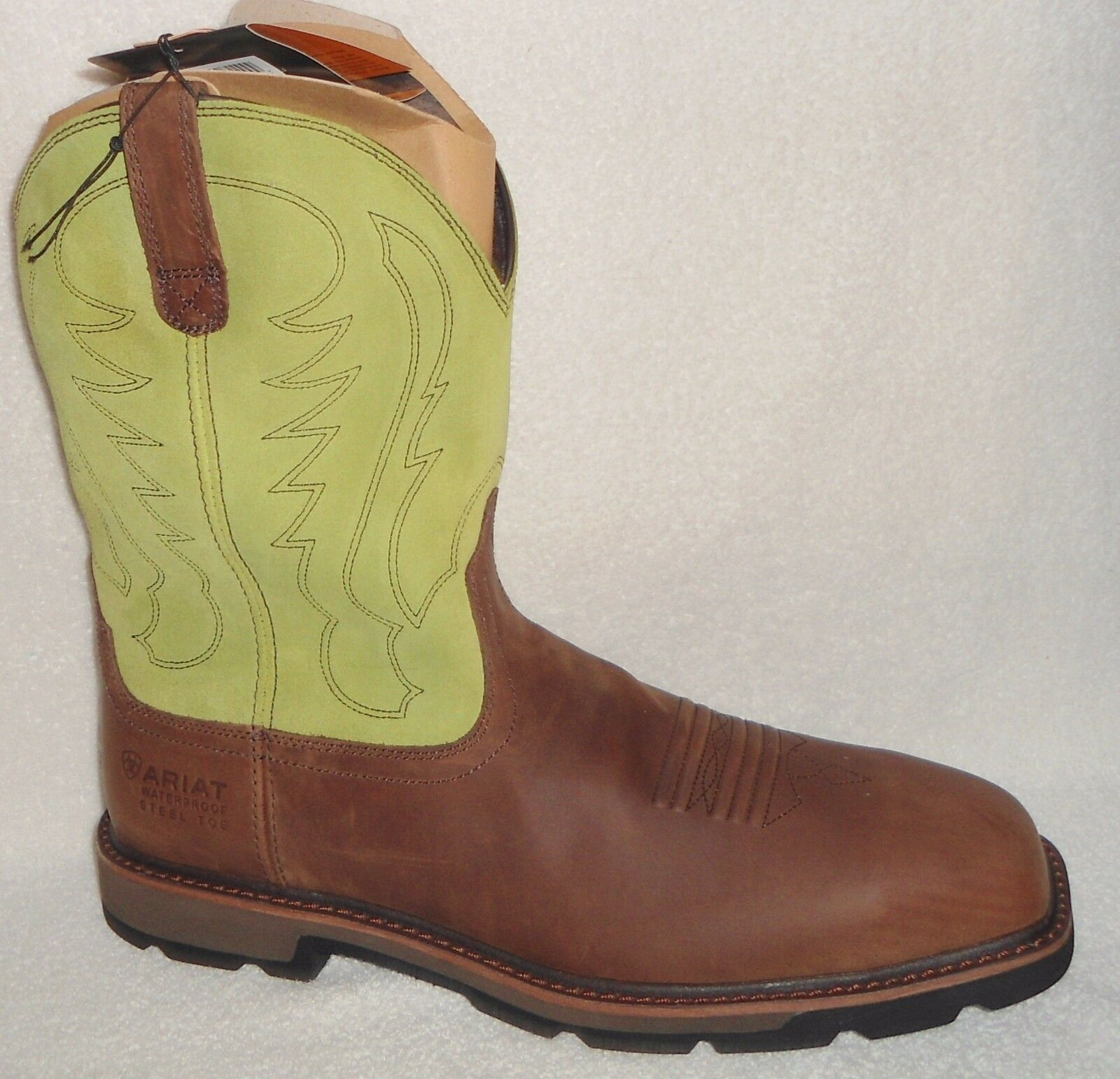 81f509a7a41 Ariat Work BOOTS Mens Groundbreaker H2o Steel Toe 14 D Brown 10015195