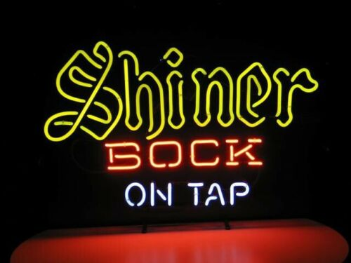 """New Shiner Bock On Tap Beer Light Lamp Party Wall Decor Neon Sign 17/""""x14/"""""""