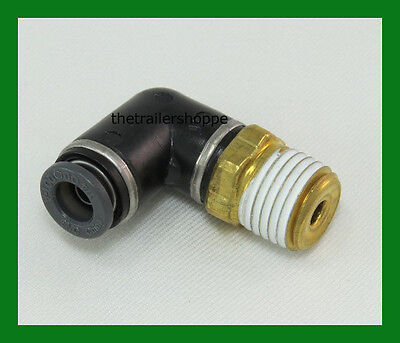 "Plastic Male 1//8/"" NPT X Female 1//4/"" Tube Air Lift 21837 90° Elbow Fitting"