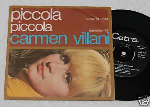 CARMEN-VILLANI-7-034-PICCOLA-ORIGINALE-1969-NM-CONDITION
