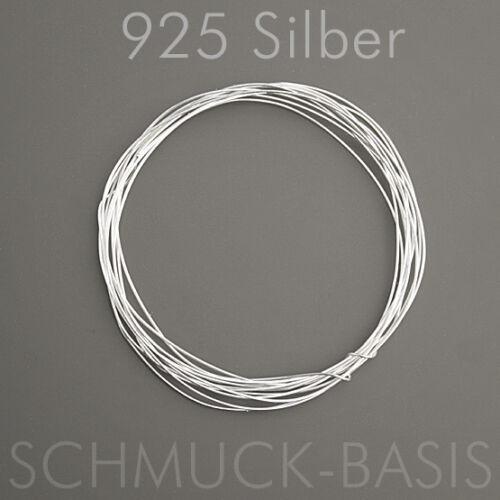 1 m Silberdraht ; 925 Silber; Strickdraht 0,25 mm echt