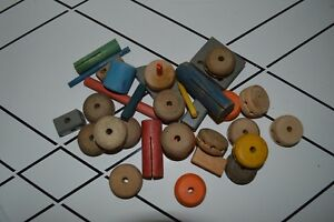 37 Pieces Of Vintage Tinker Toys Set Ebay