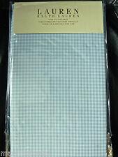 NIP-$115 RALPH LAUREN GEORGICA GARDEN KING PILLOW CASES (2) BLUE/WHITE GINGHAM
