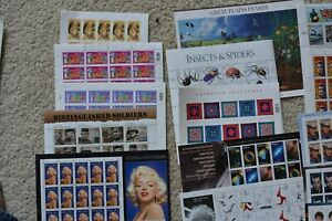 US Postage Below Face, ALL SHEETS $153.25 for $120.00 FREE SHIPPING