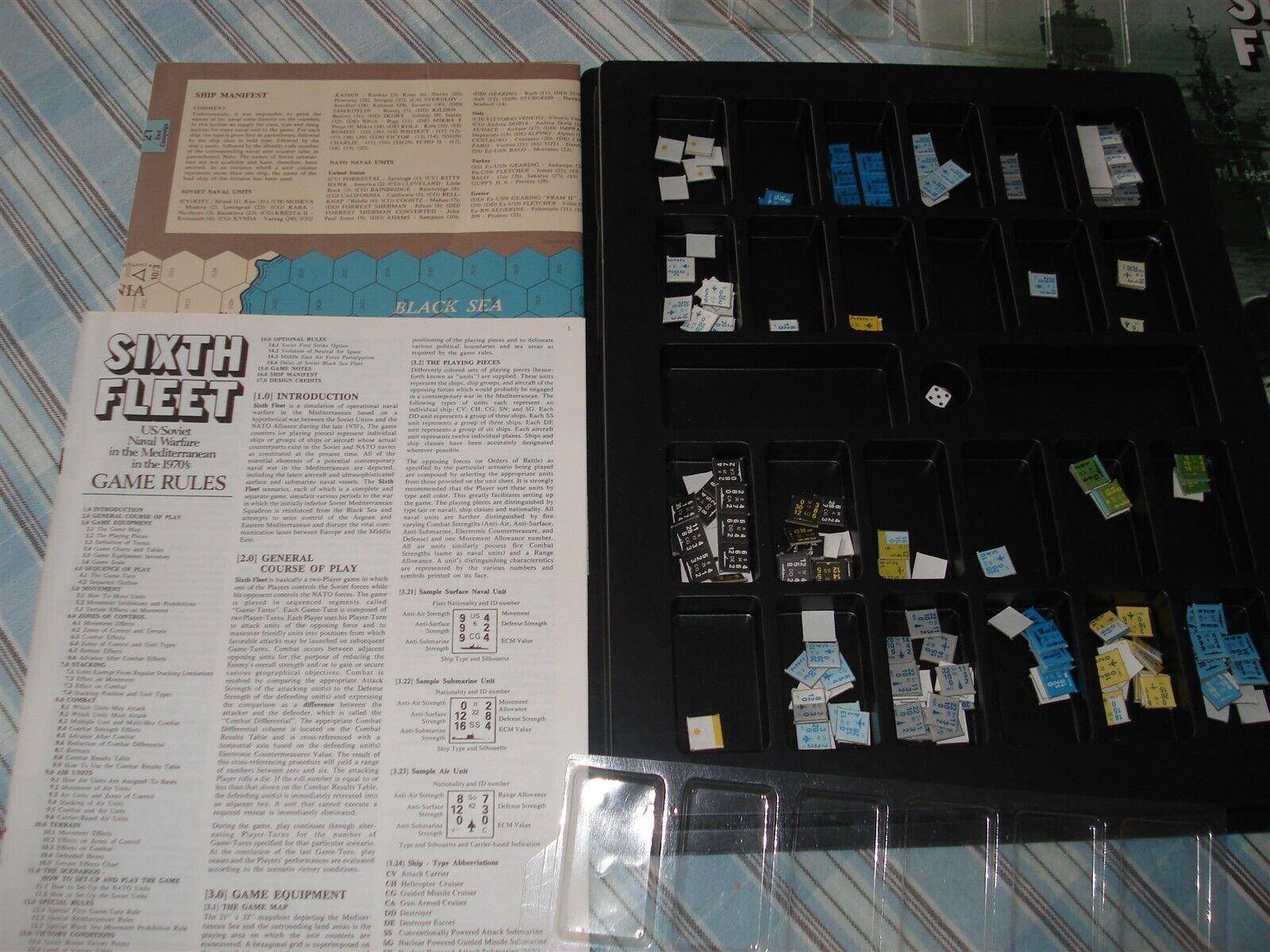 SIXTH SIXTH SIXTH FLEET GAME - SPI - 1975 - 6TH FLEET GAME - HISTORICAL SIMULATION GAME c5cf9a