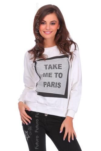 Womens Sweatshirt Take Me To Paris Print Pullover Top Sweat Jumper Blouse FW107