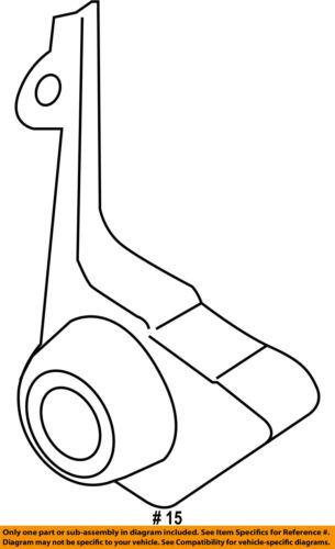 FORD OEM 15-18 Mustang 5.0L-V8-Exhaust Bracket-Rear Left JR3Z5277B