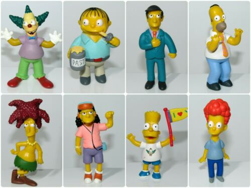 The Simpsons Collector Toy Figures ~ Bart Homer Otto Krusty Ralph Sideshow Bob